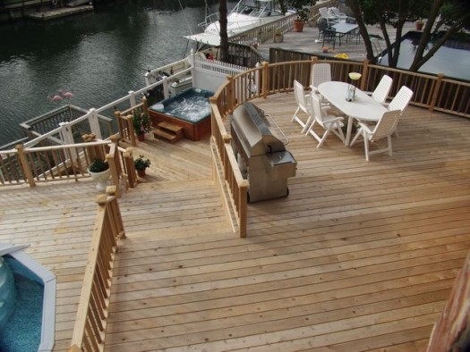 Multi Level Deck With Hot Tub And Pool Besthottubs