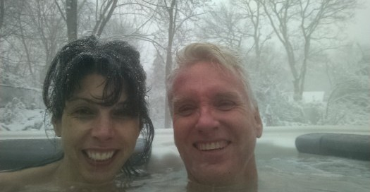 "Long Island Hot Tub's own Bill and Gina Renter will definitely be enjoying a togetherness-soak on Valentine's Day. ""We use our Bullfrog Spa just about every day throughout the year,"" says Bill."