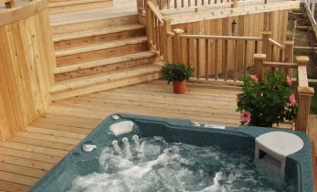 Hot Tub Cedar Deck: