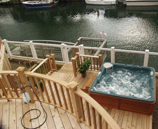 Multi Level Deck Above Ground Pool