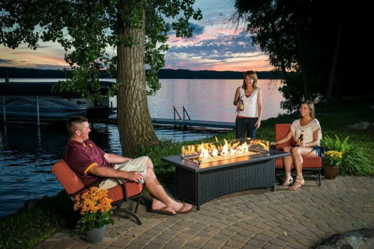 "Fire Pit Glass Guards: Another hot accessory for fire pits are glass guards that create the look of ""dancing flames"" within. The glass guards project flames, providing a reflection, so you get two or three reflections, in addition to the real flame. It also helps the glass gems in the fire pit appear to be a liquid and not just beads."