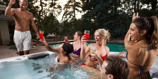 Rehearsal Party Fun: Photo: Bullfrog Spas