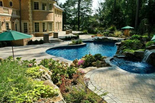 Backyard Retreat with Custom Spa:
