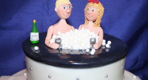 Hot Tub Wedding Cake: