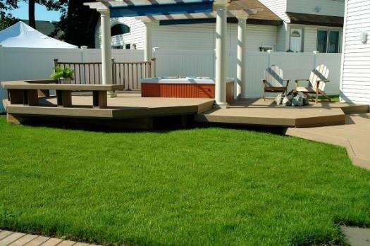 Spa Set Against Multi-Level Deck (Long Island/NY):