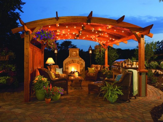 Budget Outdoor Fireplace: Budget fireplace and pergola kits can be half the price of custom ones and you can get a clear picture of what they will look like beforehand. Such kits can produce a beautiful outdoor stage for a Great Room – the perfect spot for star gazing and sharing good times with family and friends.