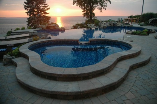 Custom In-Ground Spa at Sunset # 2 (Long Island/NY):