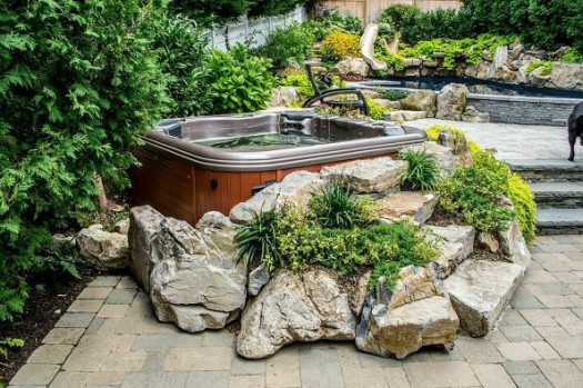 Hot tub ideas 6 of our best designs for your pinterest for Garden design ideas hot tubs