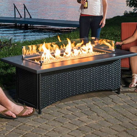 Montego Gas Fire Pit Coffee Table: