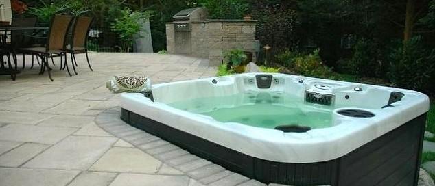 Hot Tub Patio: