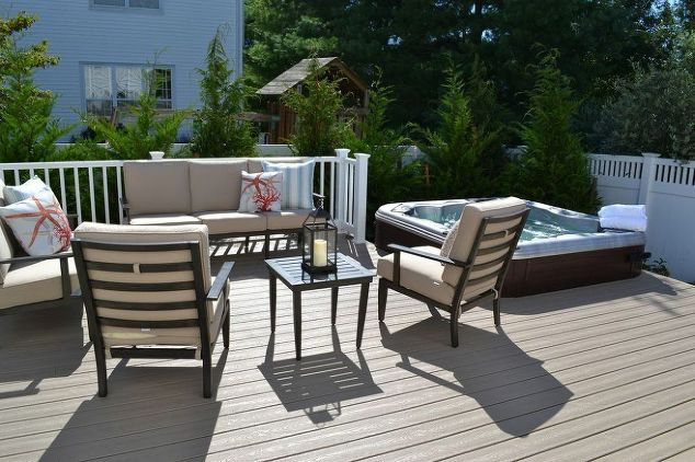 Trex Deck with Spa: