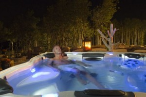 Relaxing in a Hot Tub: