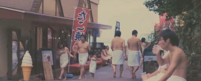 Visitors to Hot Tub Theme Park