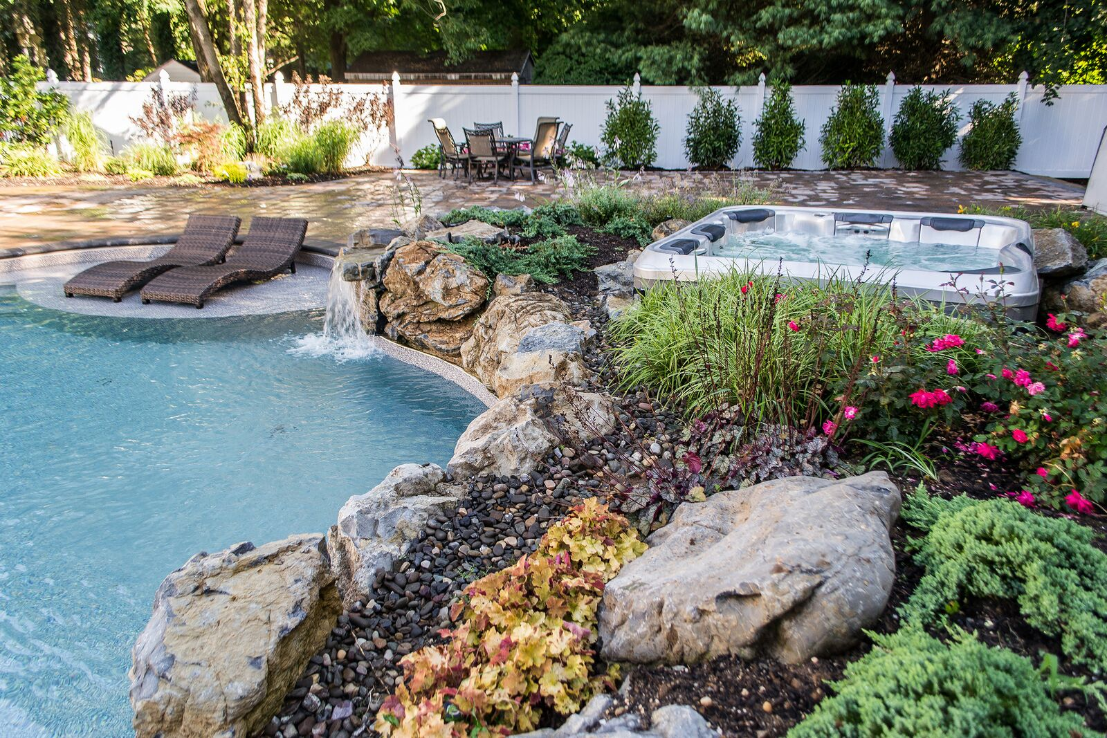 hot the ponds tub swimming rhpinterestcom waterfall no by boulder created above and u pools pond fed johnus pool natural
