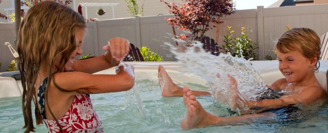 Kids Love Hot Tubs in Summer: