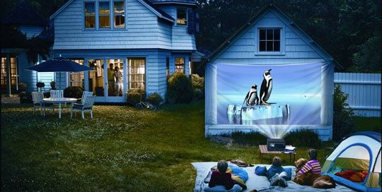 Pinterest Post of Epson MovieMate Projector