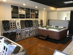 Best Hot Tubs showroom stocked with Bullfrog Spas' Massage Jets