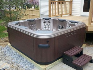 Easy hot tub installations