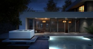 Be STIL My Heart: Bullfrog Spas' STIL creates an elegant nightscape wherever it is set.