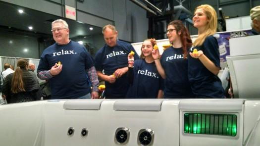 Relaxed Bullfrog Spas Staff