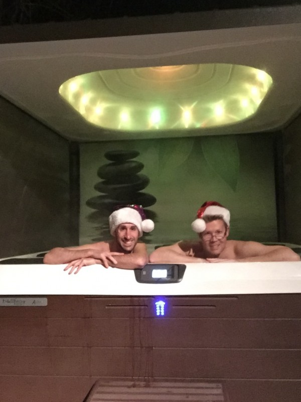 Christmas in a Hot Tub: