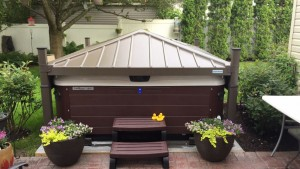 Timothy and Brian's Bullfrog Spa with Covana Cover