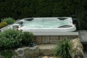 Garden Installed Hot Tub