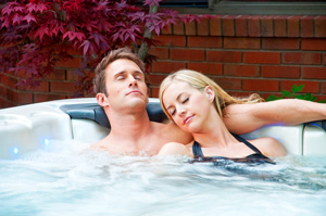Together Moments in a Hot Tub