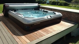 Completed Hot Tub-Deck Installation in E. Hampton