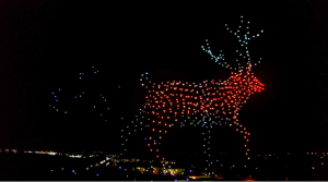 Part of Walmart's Holiday Light Show