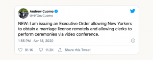 Governor Cuomo Twitter Post